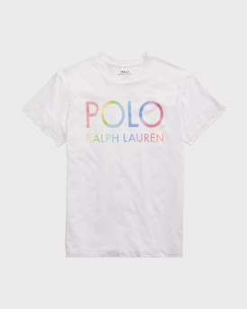 POLO RALPH LAUREN Big Fit Ombre Logo Tee - 211838144001 - ΑΣΠΡΟ