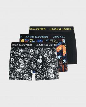 JACK & JONES ΑΝΔΡΙΚΑ 3-pack ΜΠΟΞΕΡ - 12185485 - ΜΑΥΡΟ