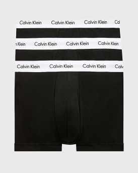 CALVIN KLEIN 3 PACK LOW RISE TRUNKS - U2664G - ΜΑΥΡΟ ΑΣΠΡΟ