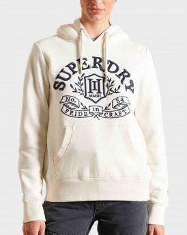 Superdry Pride In Craft Γυναικείο Hoodie - W2011154Α - ΕΚΡΟΥ