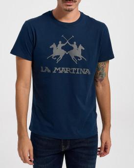 LA MARTINA ΑΝΔΡΙΚΟ T-SHIRT - CCMR01 JS206 - ΜΠΛΕ