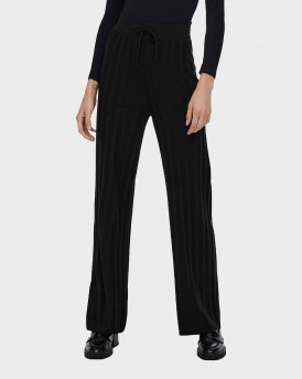 Only Wide Fitted Trousers Γυναικείο Παντελόνι - 15236375 - ΜΑΥΡΟ