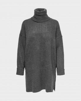 Only Roll Neck Knitted Γυναικείο Pullover - 15241191 - ΓΚΡΙ