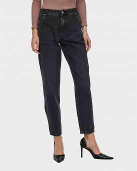 Only Onltroy Life Carrot Ankle High Waisted Γυναικεία Jeans - 15236962 - ΜΑΥΡΟ