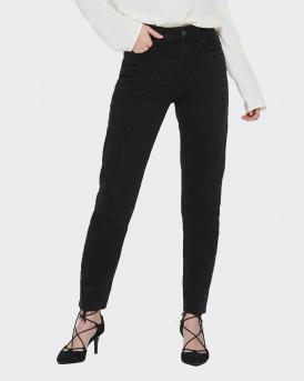 Only Onlemily HW Straight Fit Jeans - 15171545 - ΜΑΥΡΟ