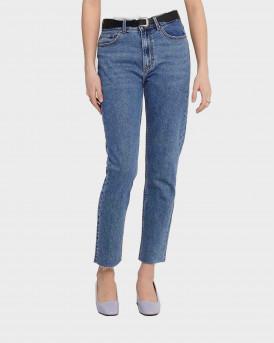 Only Onlemily HW Straight Fit Γυναικείο Jean - 15171549 - ΜΠΛΕ