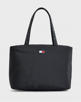 TOMMY HILFIGER TOMMY BADGE ΓΥΝΑΙΚΕΙΑ TOTE ΤΣΑΝΤΑ - AW0AW10666 - ΜΑΥΡΟ