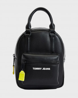 TOMMY JEANS METAL LOGO ΓΥΝΑΙΚΕΙΟ BACKPACK - AW0AW10671 - ΜΑΥΡΟ
