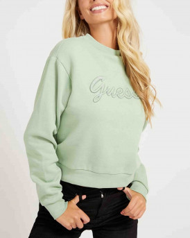 Guess Embroidery Sweatshirt Γυναικεία Μπλούζα - W1ΒQ01K68I1 - ΒΕΡΑΜΑΝ