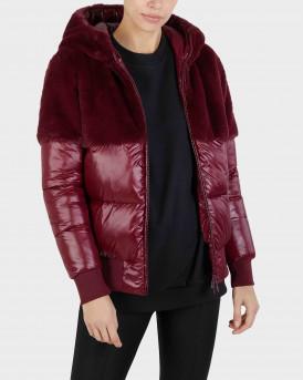 Save the Duck Ginerva Faux Fur Hooded Jacket Γυναικείο Μπουφάν - D30419W  - ΜΠΟΡΝΤΩ