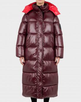 Save the Duck Hazel Long Coat with detachable Hood Γυναικείο Μπουφάν - D40323W  - ΜΠΟΡΝΤΩ
