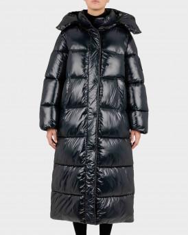 Save the Duck Hazel Long Coat with detachable Hood Γυναικείο Μπουφάν - D40323W  - ΜΑΥΡΟ