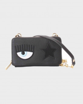 Chiara Ferragni - Eye Patch Small Crossbody Bag Γυναικεία Τσάντα - 71SB5PΟ2 - ΜΑΥΡΟ
