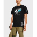 Tommy Jeans Abstract Globe Ανδρικό T-Shirt - DM0DM11669 - ΜΑΥΡΟ