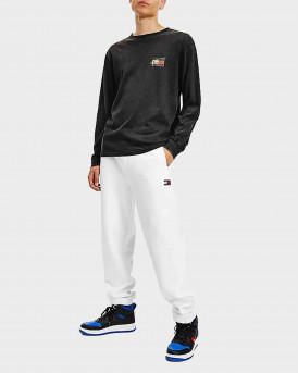 Tommy Jeans Vintage Circular Logo Long SLeeve T-shirt Ανδρική Μπλούζα - DM0DM116110 - ΜΑΥΡΟ