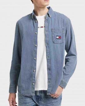 Tommy Jeans Ανδρικό Τζην Πουκάμισο - DM0DM11331 - ΜΠΛΕ